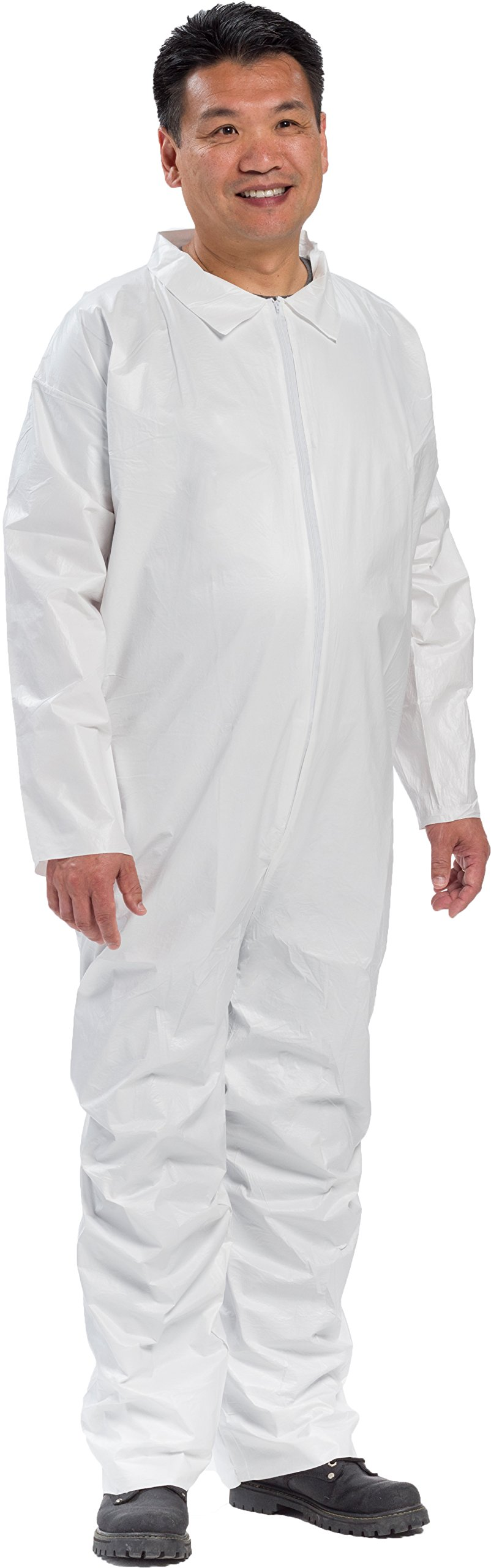 West Chester 3400/2XL PE Laminate Basic Coverall, 2XL, White (Box of 25) by West Chester (Image #1)