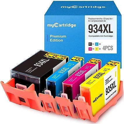 MyCartridge - 4 Cartuchos de Tinta compatibles con HP 934 XL ...