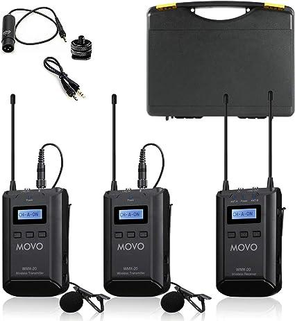 COMICA BoomX-D D2 Professional Lavalier Microphone Transmisor dual inal/ámbrico para smartphone 2,4 G