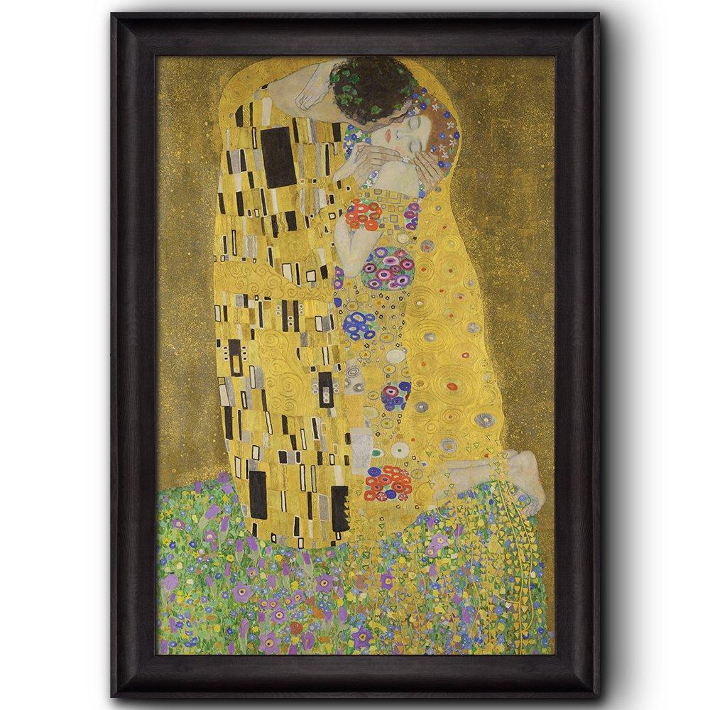 The Kiss by Gustav Klimt Framed Art - Framed Prints   Wall26