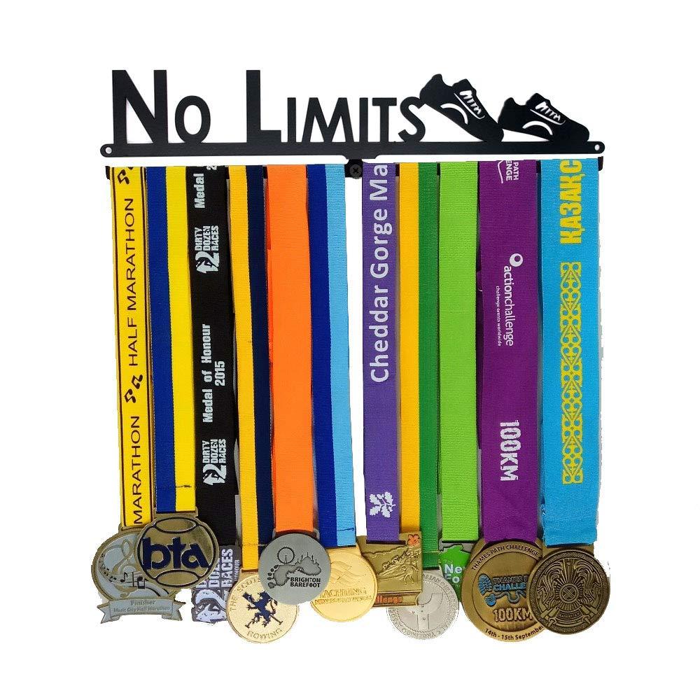 xj Médaille Cintre | Médaille Show Métal Support | Médaille Rack Continuer à Courir | Cintre de Coureur du Coureur | Présentoir Médaille | Titulaire du trophée