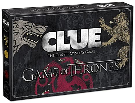 Amazon Usaopoly Clue Game Of Thrones Board Game Official Game