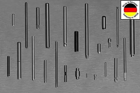 20 St/ück Zylinderstifte 6x26 DIN 7 Stahl blank Zylinderstift Pa/ßstifte Toleranz M6