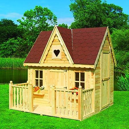 Diseño de casita nido de golondrinas porche con niños casa jardín maqueta: Amazon.es: Juguetes y juegos