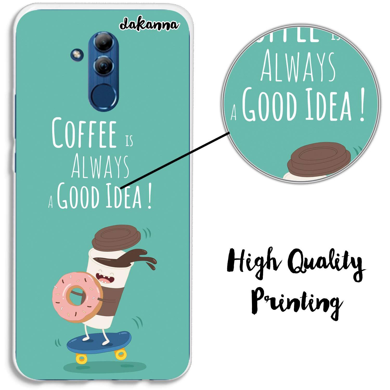 dakanna Funda para Huawei Mate 20 Lite | Comida Café y Donut ...