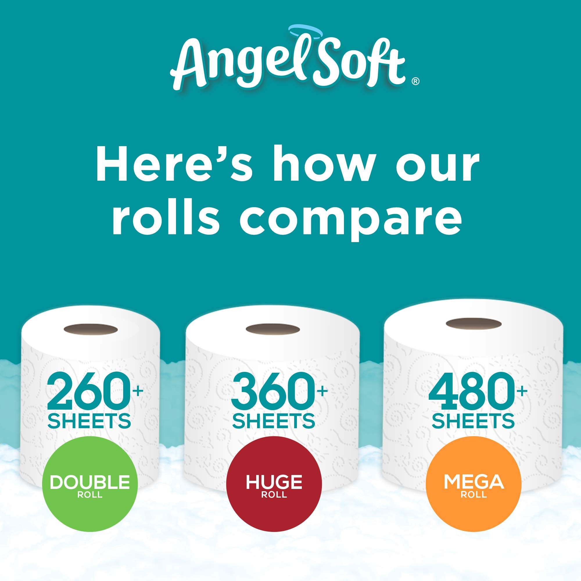 ANGEL SOFT Toilet Paper Bath Tissue, 36 Huge Rolls, 360+ 2-Ply Sheets Per Roll by Angel Soft (Image #8)