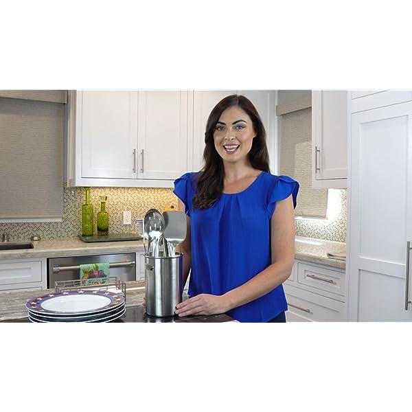 Stainless Steel Kitchen Utensil Set - 10 piece premium Non-Stick & Heat Resistant Kitchen Gadgets, Turner, Spaghetti… 7