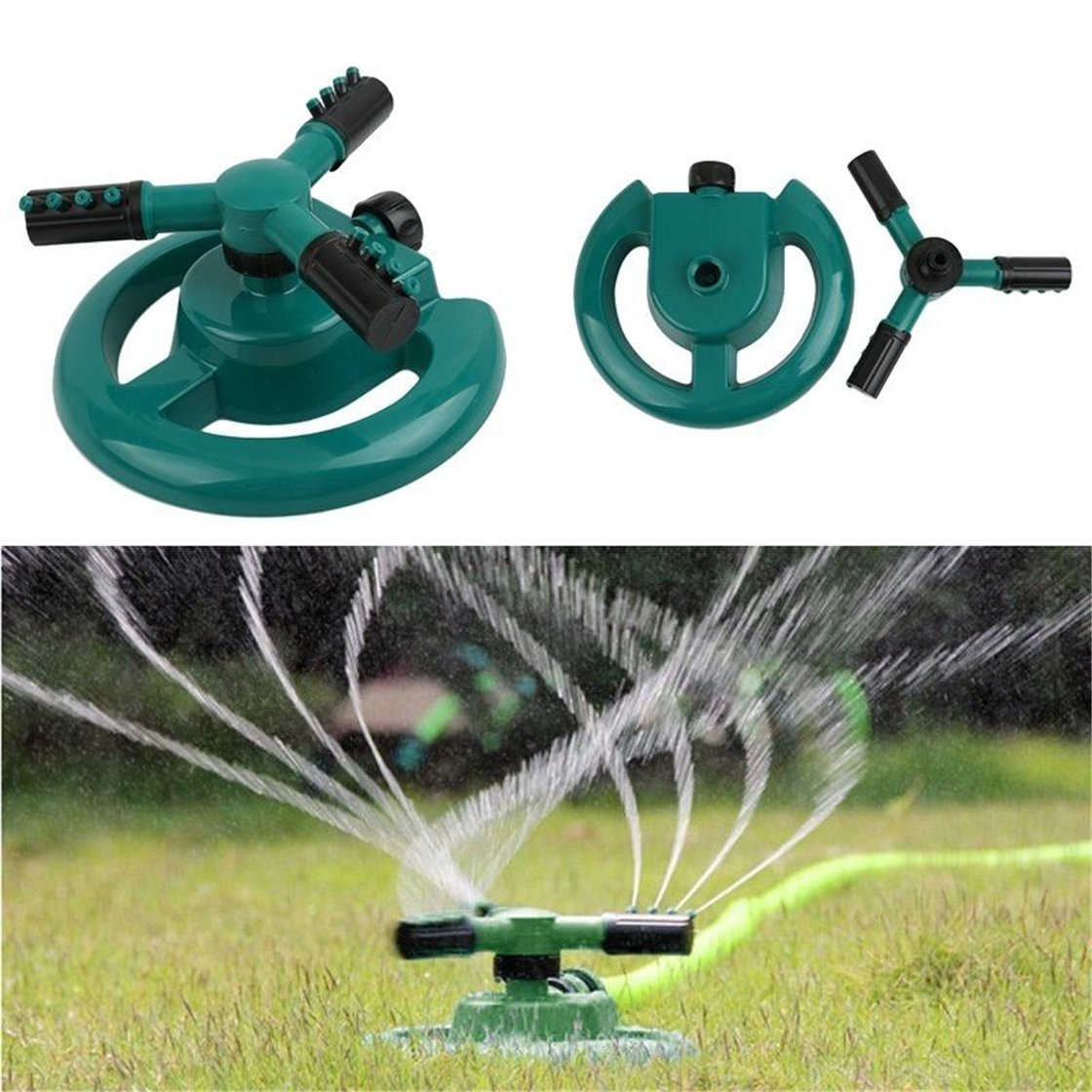 b4fa06ebd0dc Amazon.com  UNKE Lawn Sprinklers 360° Lawn Circle Rotating Water Sprinkler  3 Nozzle Garden Pipe Hose Irrigation Circular Sprayer Durable Rotary Water  ...