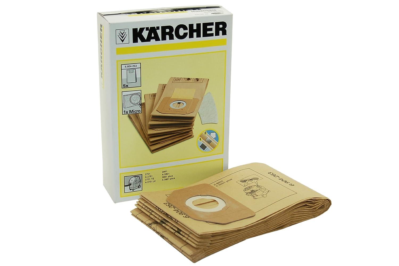 Amazon.com: Karcher – Filtro de papel Bolsas 69042630: Home ...