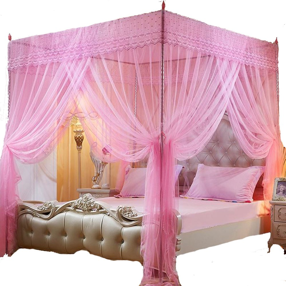 Mengersi Princess Bed Canopy Mosquito Net (Twin, Purple)