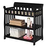 Delta Children Eclipse Changing Table with Changing Pad, Black