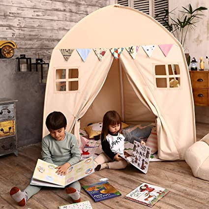 Love Tree Kids Play Tent Castle Large Teepee Tent for Kids with Mat Portable Playhouse Children & Amazon.com: Love Tree Kids Play Tent Castle Large Teepee Tent for ...