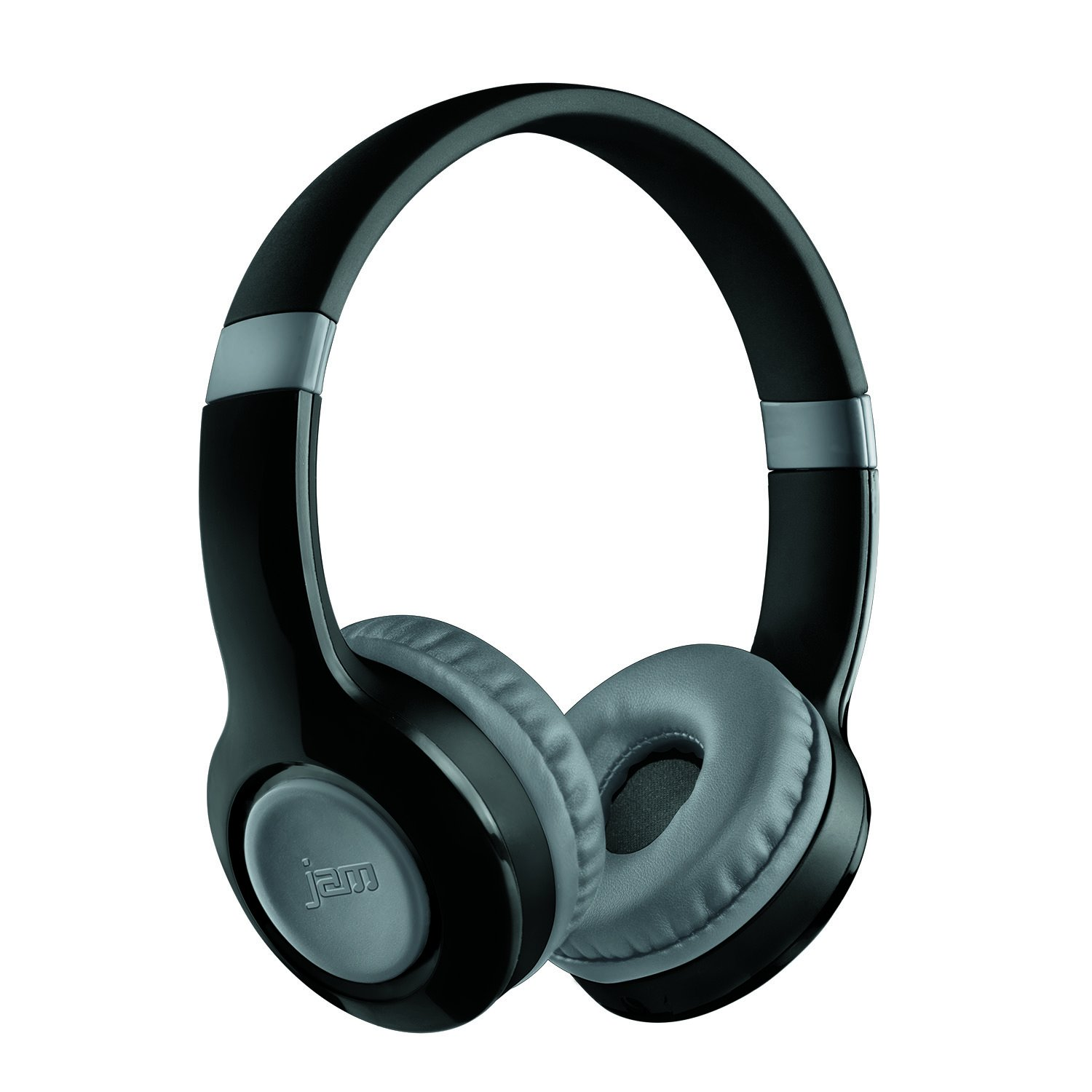 JAM Transit Lite Wireless Bluetooth Heaphones, 11 Hour Playtime, Lightweight Design, Connect Wirelessly to any Bluetooth Device, 30ft Range, Adjust Volume on Ear Cup, Aux-In Port, HX-HP400GY Grey