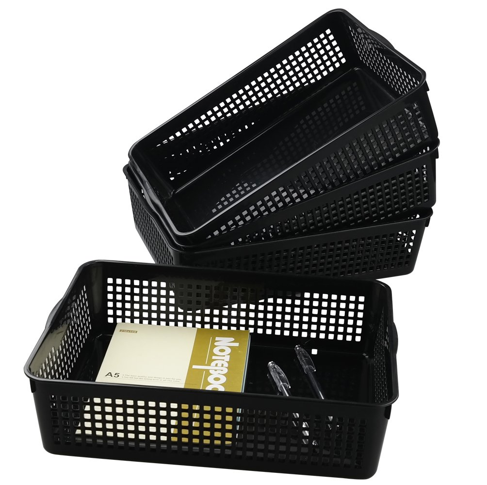 Saedy Plastic Paper Basket Organize, 4 Packs Saedys