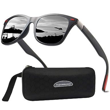 Perfectmiaoxuan Gafas de sol polarizadas Hombre Mujere Lujo Retro/Aire libre Deportes Golf Ciclismo Pesca Senderismo 100% protección UVA gafas unisex ...