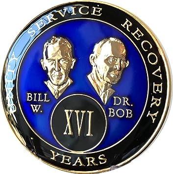 16 Year AA Medallion Purple Tri-Plate Founders Bill /& Bob Chip XVI