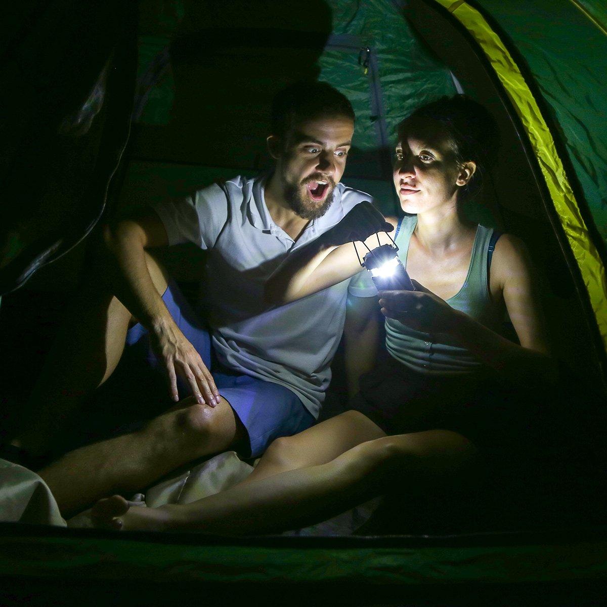 Ausf/älle usw 30 LEDs Batteriebetrieben Campinglampe 4er Pack Notfall Faltbare Camping H/ängelampe geeignet f/ür Angeln LE Camping Laterne Abenteuer Wandern