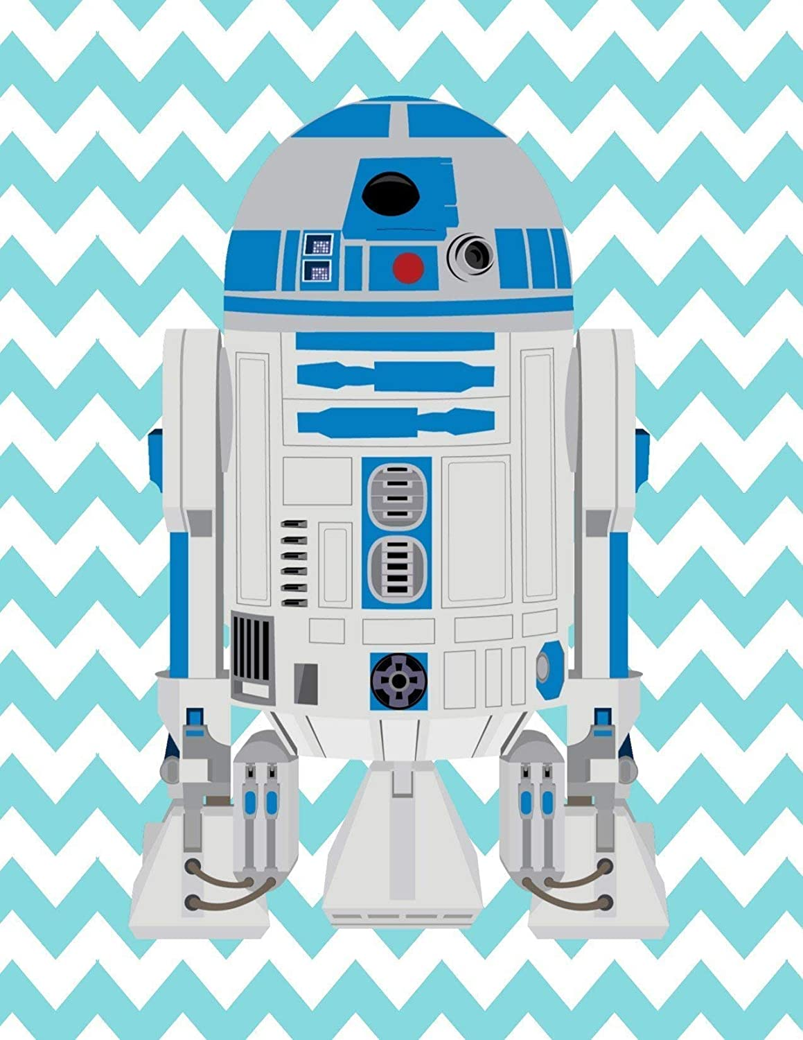 I Am A Jedi Like My Father Before Me African American Star Wars Nursery Decor Set of 4 Prints Love R2D2 and Luke Skywalker