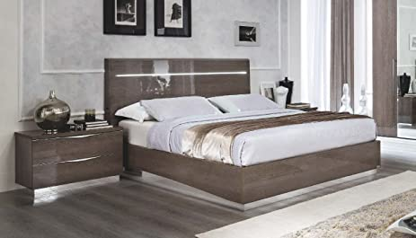 Amazon.com: ESF Platinum Legno Silver Birch Queen Size Bedroom Set ...