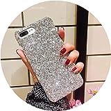 キラキラ スパンコールiPhone のため Xスマートフォン ケース6s 高級ハード ケース 7 キラキラ i8 クリスマス ケース,シルバー,iPhone のため 7 / 8