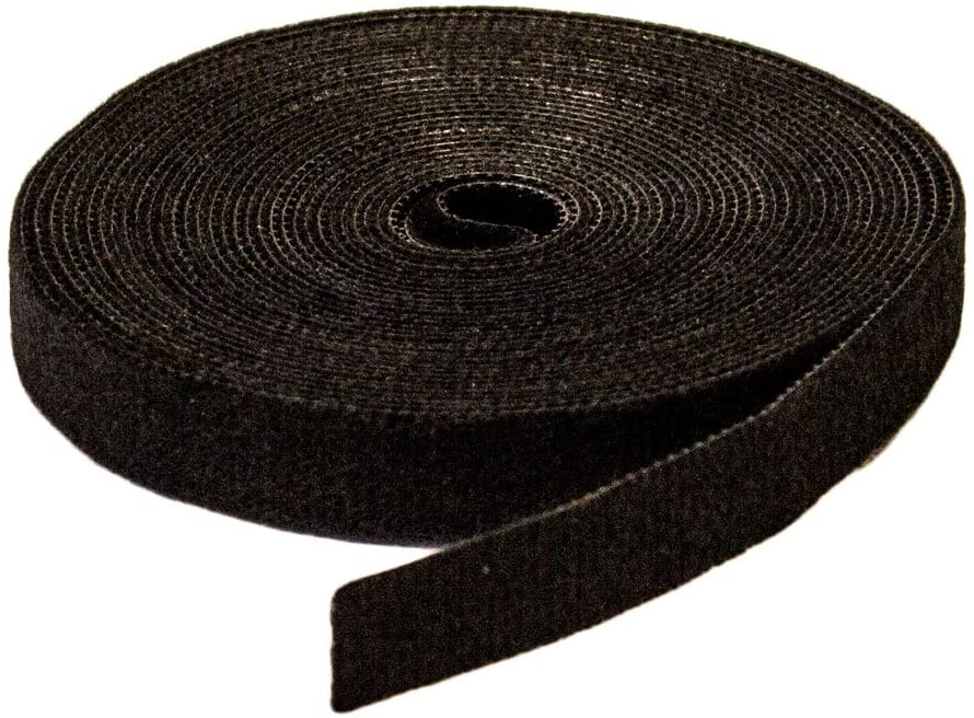 """1/"""" Inch Roll Hook and Loop Reusable Cable Ties Wraps Straps 5M 15ft"""