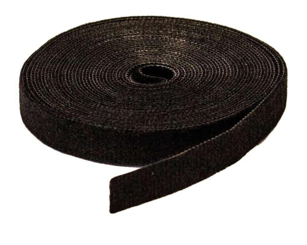 NavePoint 1/2'' Inch Roll Hook & Loop Reusable Cable Ties Wraps Straps - 5M 15ft 3-pack