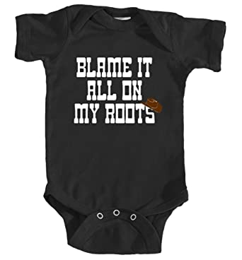 8f740fee2 Amazon.com: InkCallies Blame My Roots Baby Bodysuit, Cute, Country Baby,  Baby Girl, Baby Boy, Cowboy Baby, Kids T-Shirt: Clothing