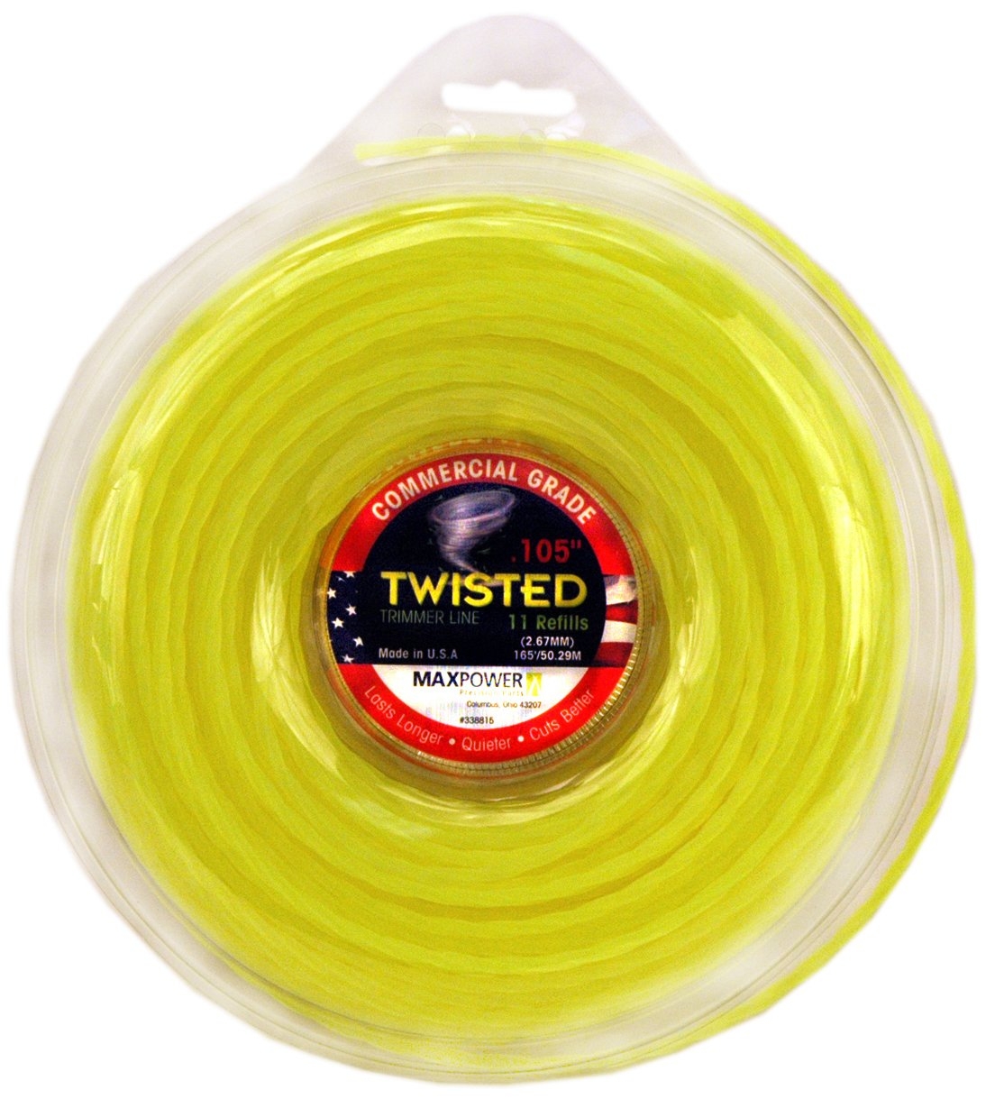 Maxpower 338815 Premium Twisted Trimmer Line .105-Inch Twisted Trimmer Line 165-Foot Length by Maxpower