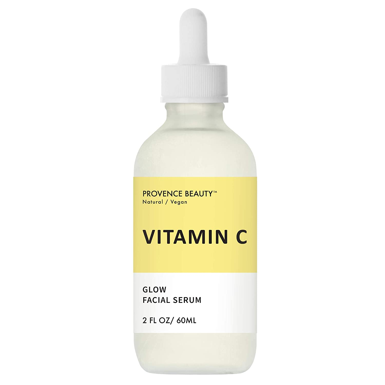 Vitamin C Glow Facial Serum   Face Brightening & Anti-Aging Therapy - Rejuvenates Skin for a Brightened, Youthful, Glowy Complexion   Green Tea & Vitamin E   2 FL OZ