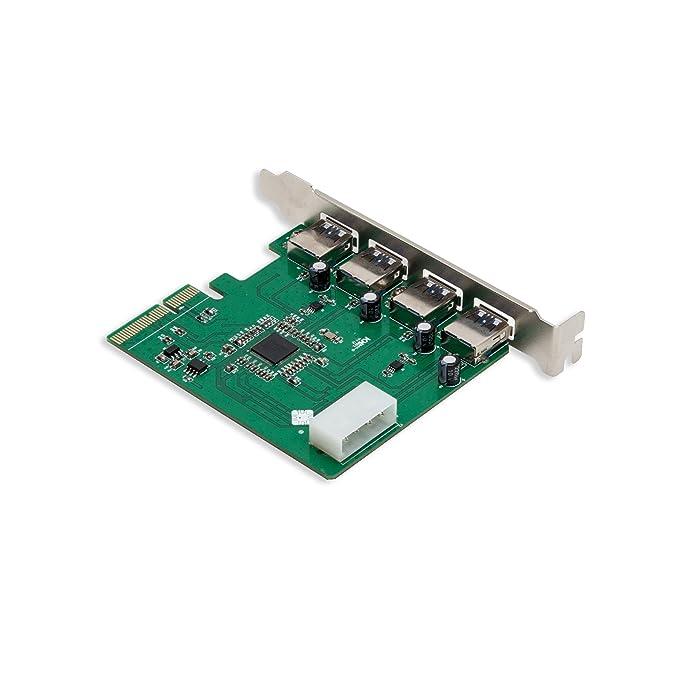 Amazon.com: IO Crest – 4 puertos USB 3.0 tarjeta ...