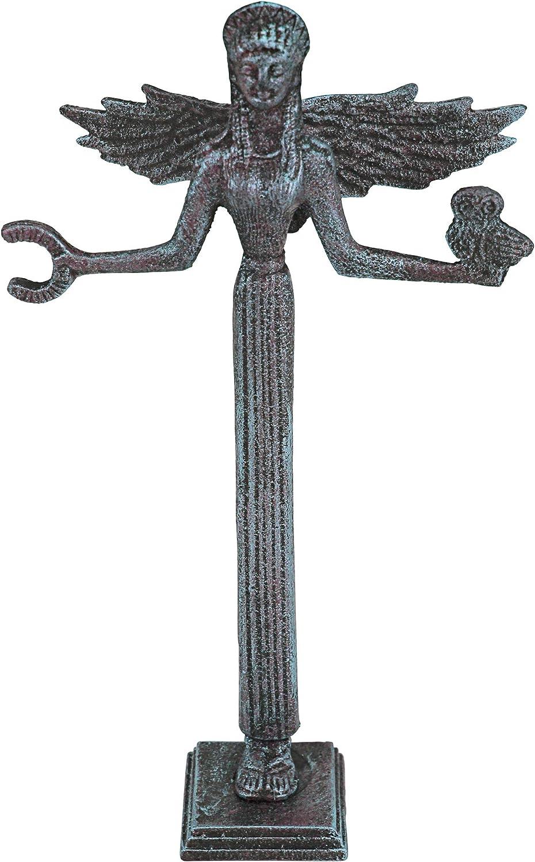 Design Toscano Goddess Athena Greek Replica Statue, 11 Inch, Cast Iron, Bronze Verdigris Finish