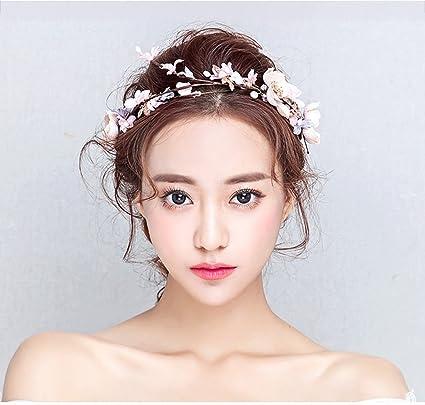115396cf16b6  Corolla Copricapo Ghirlanda di fiori copricapo da sposa ghirlanda accessori  per capelli in rattan accessori per