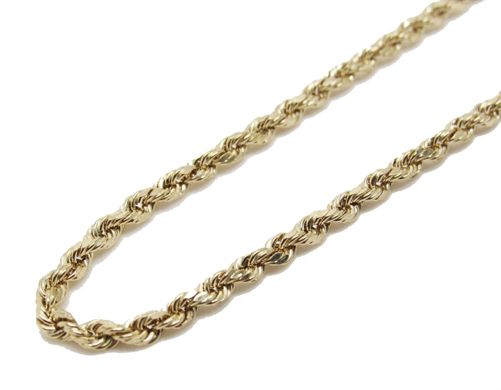 10K Yellow Gold Italian Rope Chain 30'' 3mm wide Hollow 7.4 Grams by Melano Creation (Image #1)