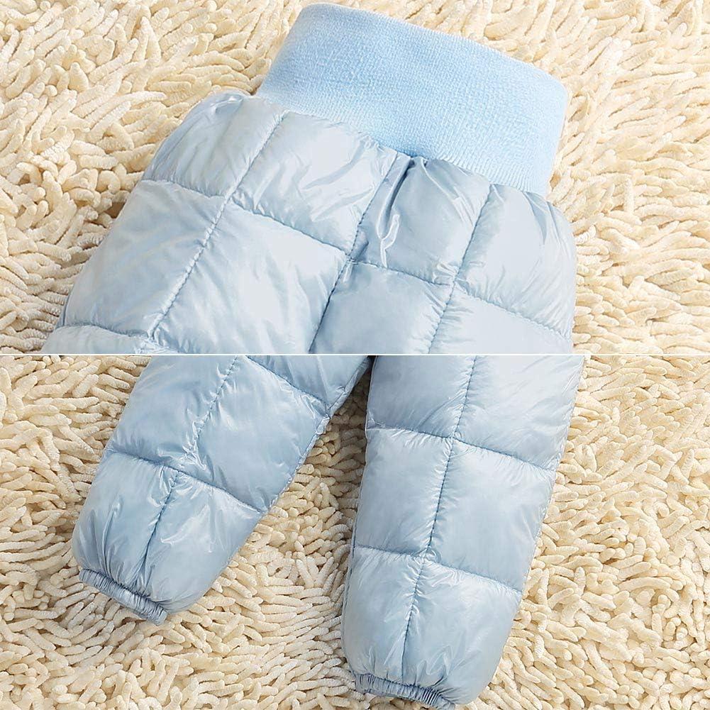 Happy Cherry Baby Boys Girls Elastic Windproof Down Pants Lightweight Warm Snow Pants