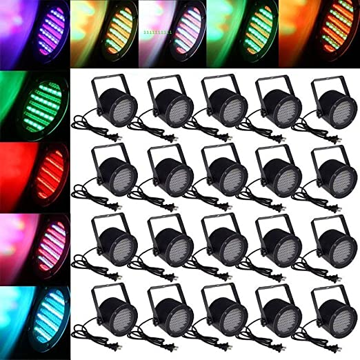 Ledona 20pcs 86 LED RGB Stage lights Party Discoteca Pub DJ DMX ...