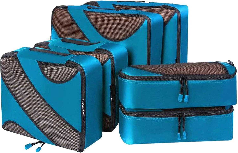 Bagail 6 Set Packing Cubes,3 Various Sizes Travel Luggage Packing Organizers