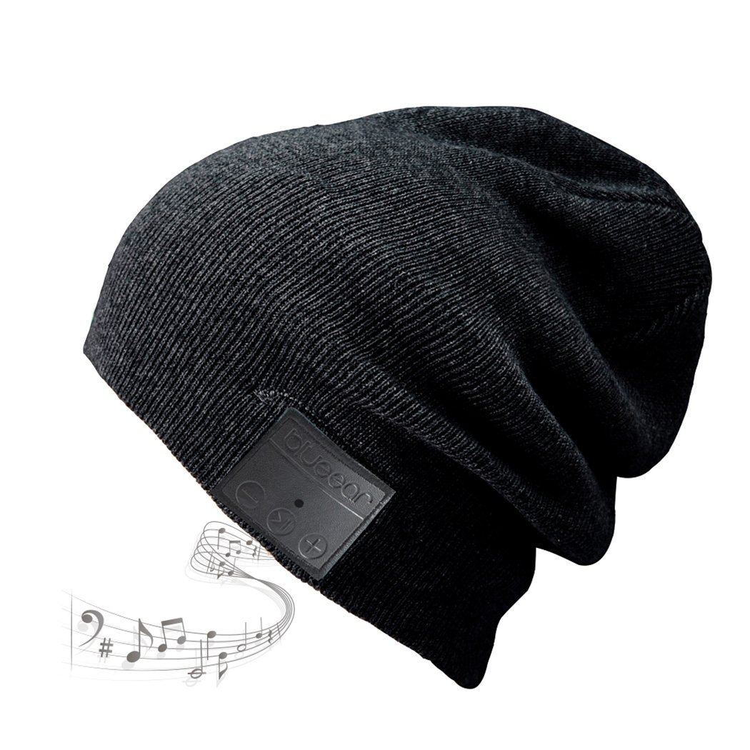 Blue ear® Bluetooth Wireless Music Knitted Beanie With Stereo Speaker And MIC V4.1 Version Up to 8 Hours Long Playing Time(H09 Black) BLUEEAR