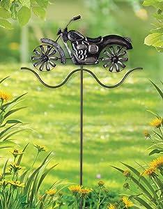 Sunset Vista Designs Motorcycle Spinner Garden Stake, 39