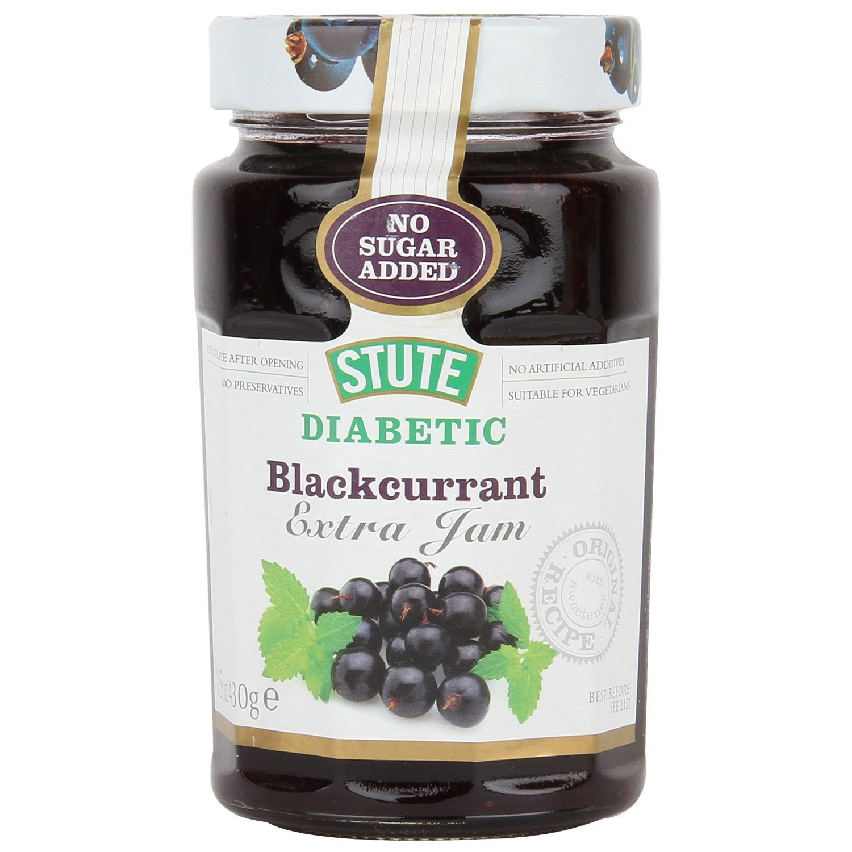 (3 PACK) - Stute - Diabetic Blackcurrant Jam | 430g | 3 PACK BUNDLE