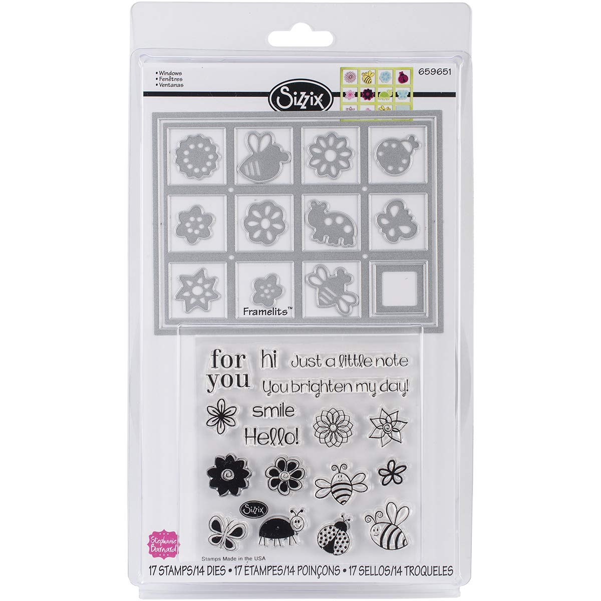 Die and Clear Acrylic Stamp Set Windows (4 Pack)