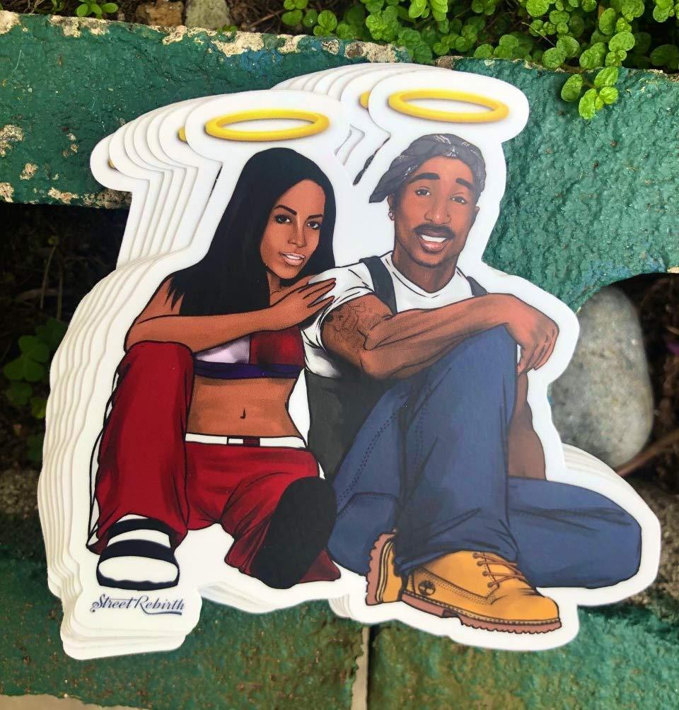 1 RIP Hip Hop Greats Sticker - One 4.5 Inch WaterProof Vinyl - For Hydro Flask Skateboard Laptop etc