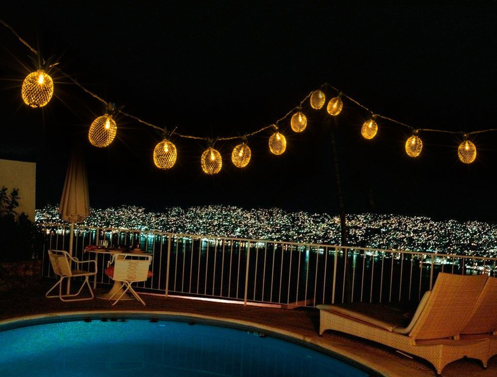 GIGALUMI Pineapple String Lights, 15ft 20 LED Fairy String Lights Battery Operated for Patio Home Wedding Party Bedroom Birthday Decoration (Warm White) by GIGALUMI (Image #4)