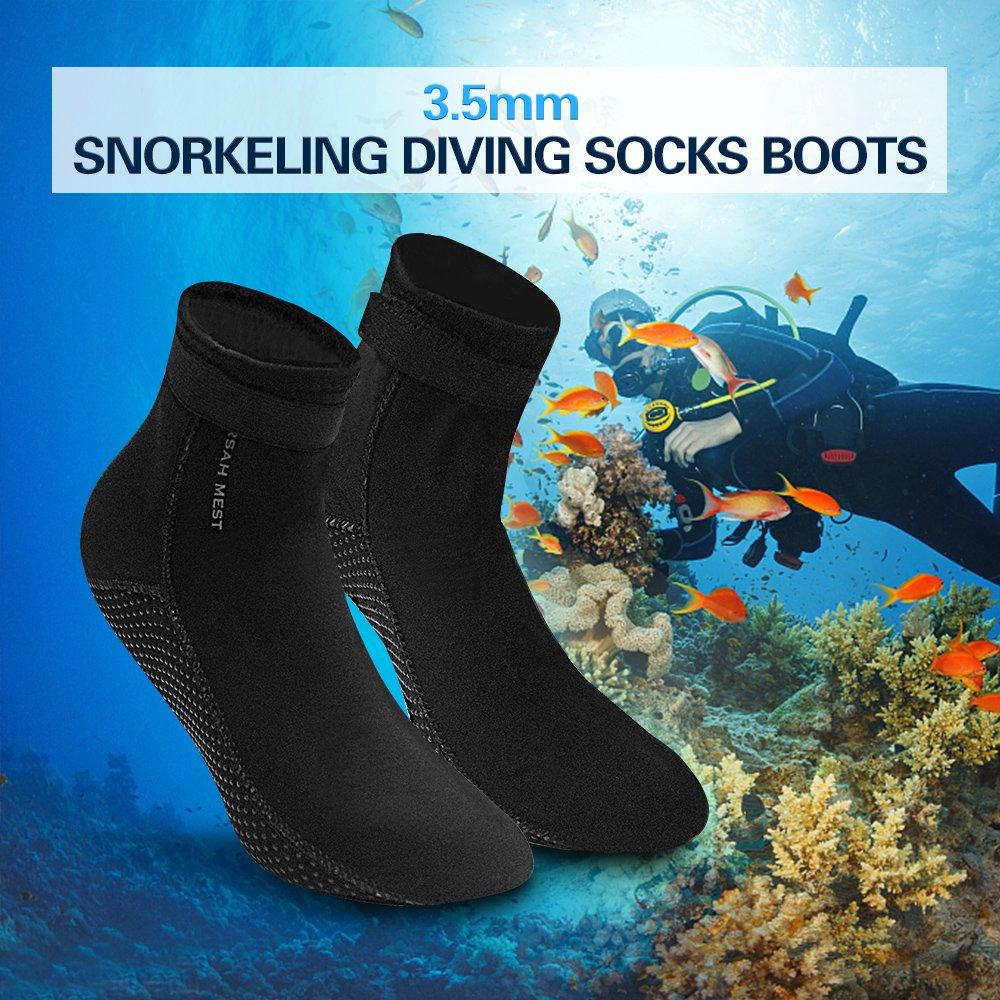Lixada 3.5 mm Neopreno Calcetines Botas de Buceo Zapatos de Agua para  Hombres Mujeres  Amazon.es  Deportes y aire libre f9b0c4314dd