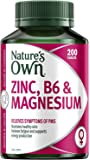 Nature's Own Zinc, B6 & Magnesium - Supports Bone and Muscle Health - Promotes Healthy Skin - Antioxidant, 200 Tablets