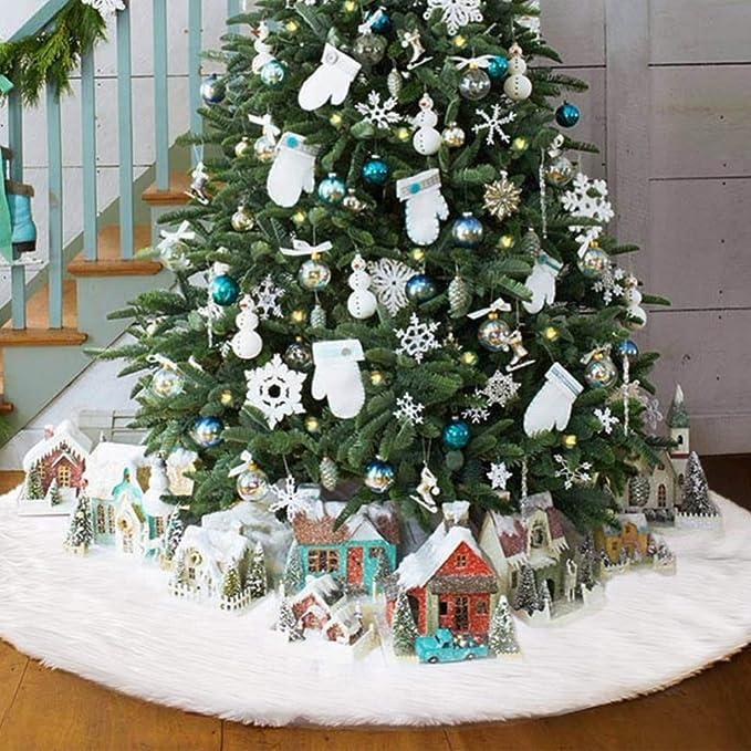 Case/&Cover Falda del /Árbol De Navidad Decoraci/ón De Interior Aire Libre del Patr/ón del Copo De Nieve /Árboles De Navidad Adornos