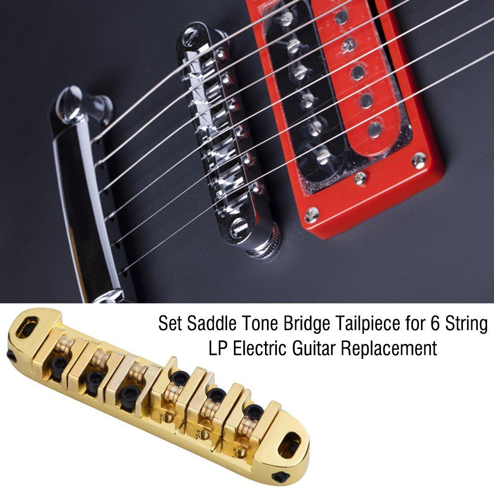 Roller Saddle Bridge Saitenhalter mit Schrauben für LP E Gitarre Silber