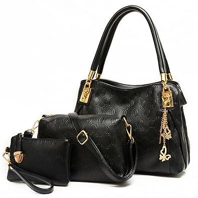 0f2d0f62acbd Montmo 3 Pcs Purses and Handbags Set Top-Handle Shoulder Bag Purse for Women  (
