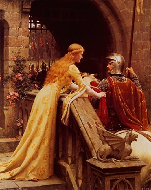 "/""God Speed/"" by Edmund Blair Leighton Poster in 5 Sizes"