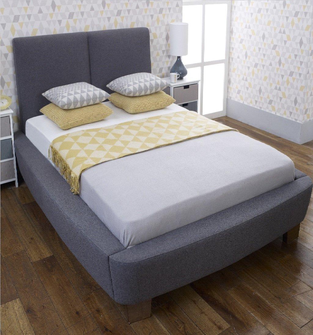 Dione King Size Bett In Grau Stoff: Amazon.de: Küche & Haushalt