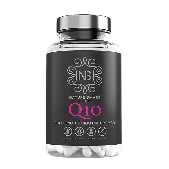 Colágeno + Q10 + ácido hialurónico + Vitamina C |Piel Radiante | Efecto Antienvejecimiento |100% Natural | 90 Cápsulas